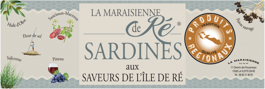 Affiche présentoir Sardines Ile de Ré