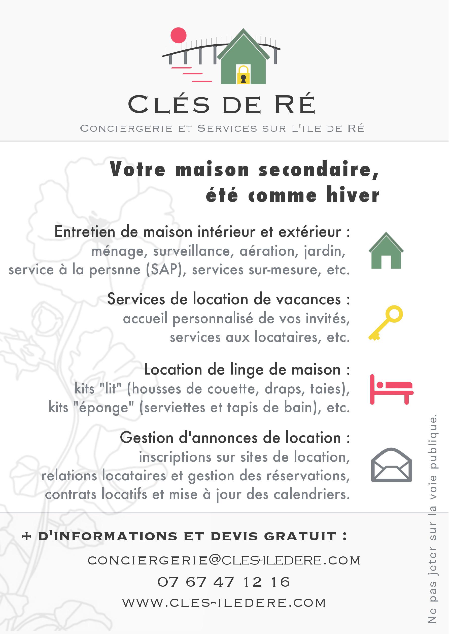 Cl s de r conciergerie et services sur l ile de r for Abc espace vert